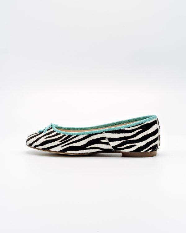 ballerine zebra azzurre